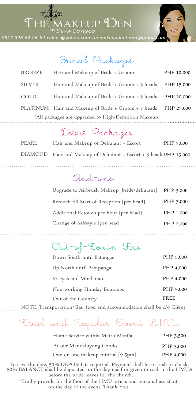 Bridal Debut Event Packages